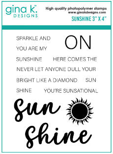 Clear Mini Stamps Sunshine Stamp Set