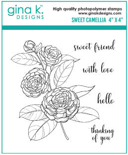 Clear Mini Stamps Sweet Camellia
