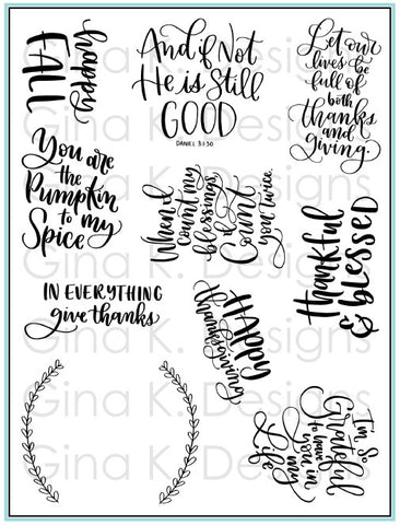 Clear Stamps - Thankful and Blessed