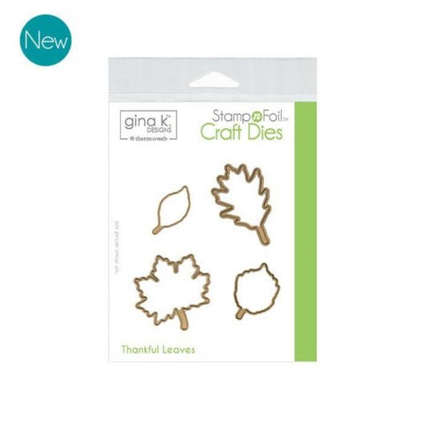 GKD Stamp & Foil Thankful Leaves Die Set