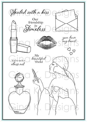 Clear Mini Stamps Timeless Beauty