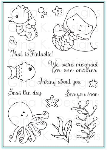 Clear Stamps Vicky Mermaid