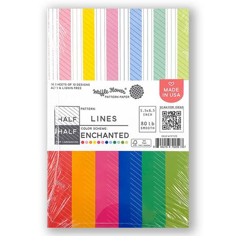 Half-Half Lines Enchanted Paper Pack