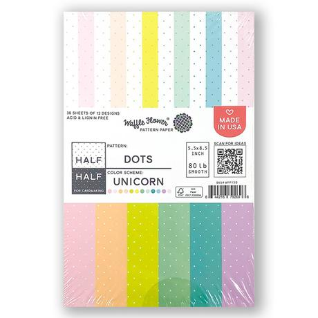 Half-Half Dots Unicorn Paper Pack