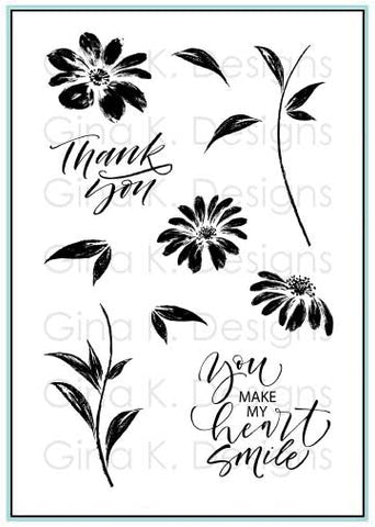 Watercolor Flowers Stamp Set