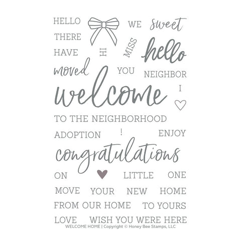 Welcome Home 4x6 Stamp Set