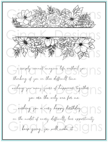 Clear Stamps Whimsical Wildflower Frame