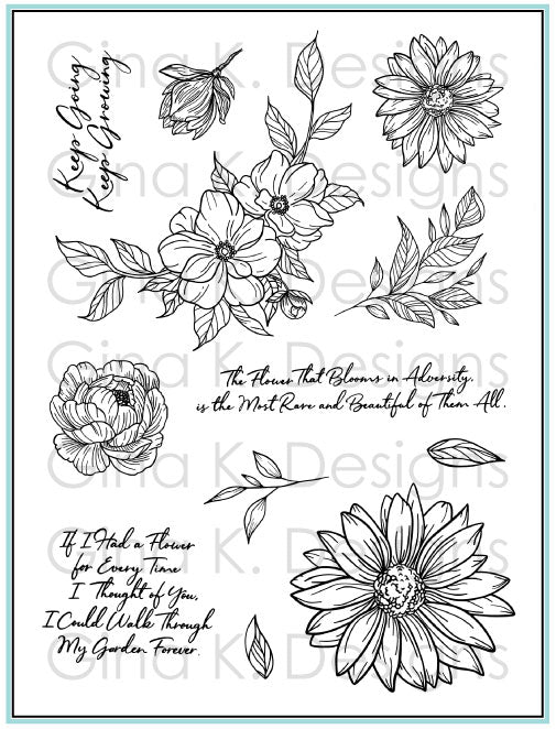 Clear Stamps Whimsical Wildflower
