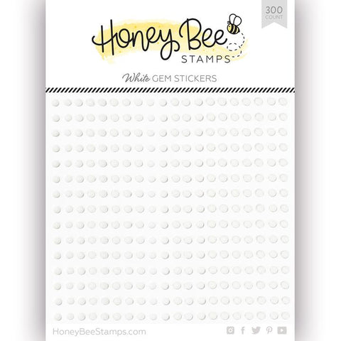 White Gem Stickers 300