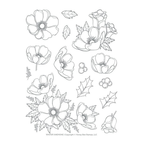 Winter Anemone 6x8 Stamp Set