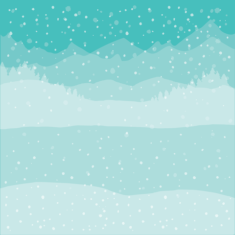 Winter Wonderland Background Stencils set of 6