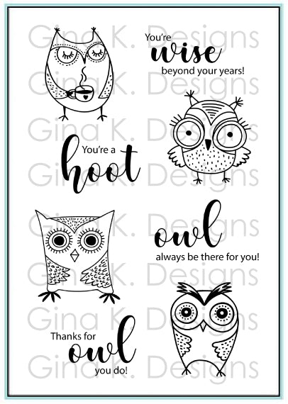 ClearMini  Stamps Wise Old Owl