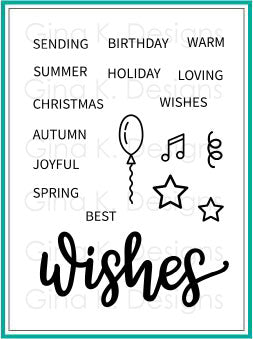 Clear Mini Stamps Wishes Stamp Set