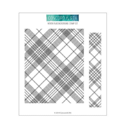 Woven Plaid Background