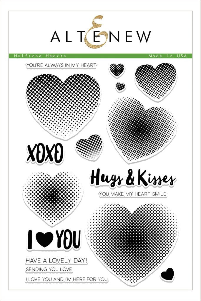 Halftone Hearts Stamp Set