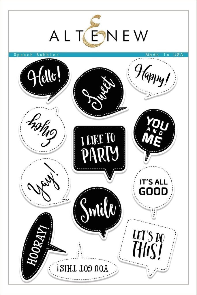 Speech Bubbles Stamp Set