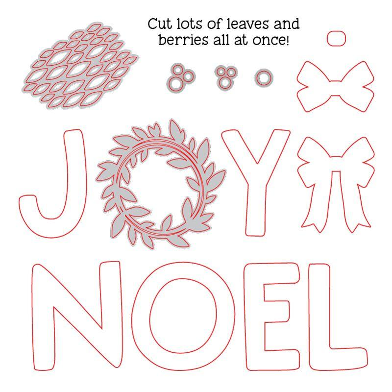 Joy Noel Wreath Honey Cuts