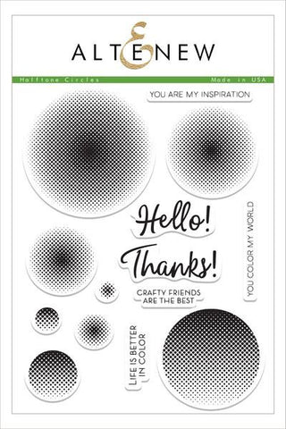 Halftone Circles Stamp Set