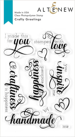 Crafty Greetings Stamp Set
