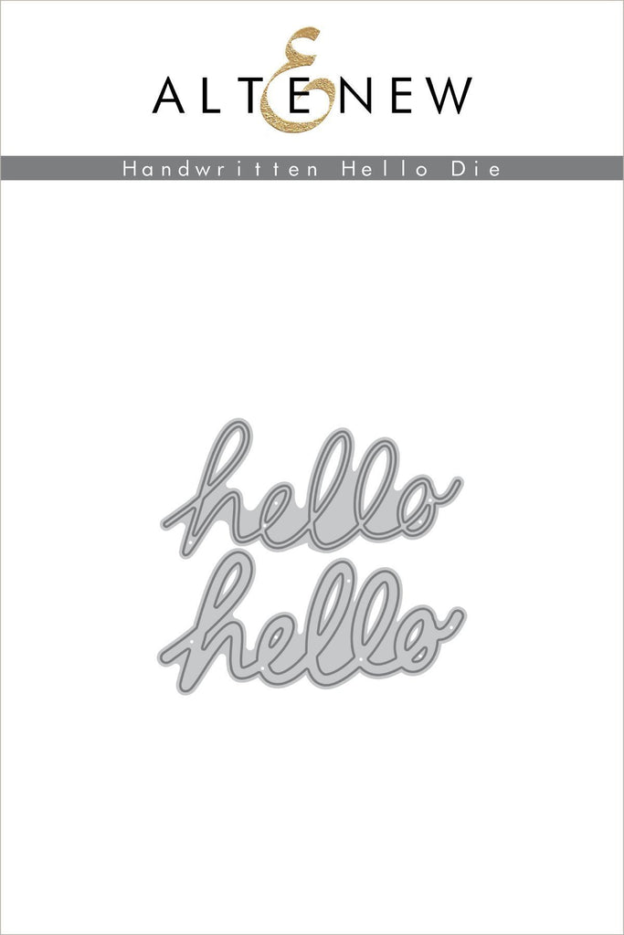 Handwritten Hello Die Set