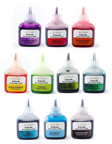 Spring Garden Liquid Watercolor - Brush Marker Refill Bundle