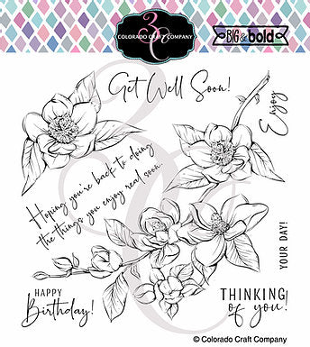 Big & Bold - Thinking Of You Magnolias 6 x 6 Stamps