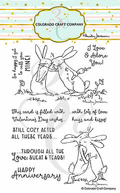 Anita Jeram - Lots Of Love 4 x 6 Stamps