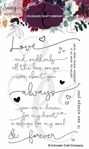 Savvy Sentiments - Always & Forever  Stamp
