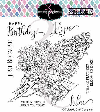 Big & Bold - Just Because Lilacs 6 x 6 Stamps
