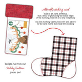 Stocking Gift Card Holder Honey Cuts