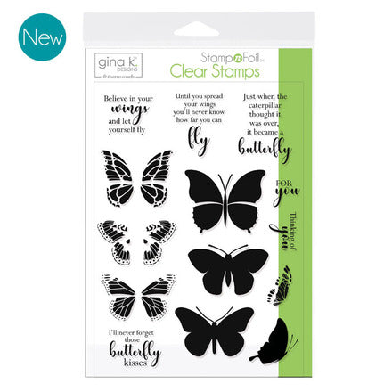 GKD Stamp & Foil Butterfly Kisses Stamp Set