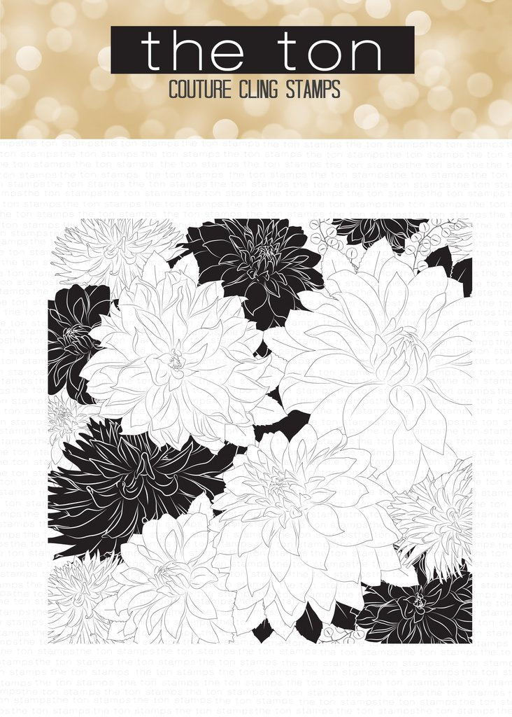 Dahlia Garden Cling Background