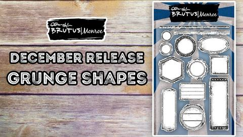 Grunge Shapes - 4x6 stamp