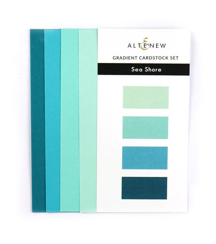 Gradient Cardstock Set - Sea Shore