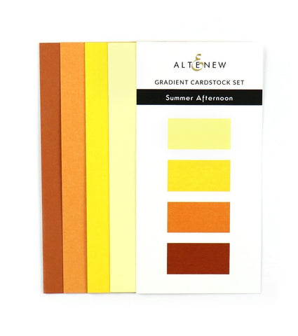 Gradient Cardstock Set - Summer Afternoon