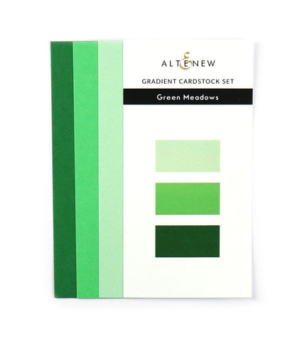 Gradient Cardstock Set - Green Meadows