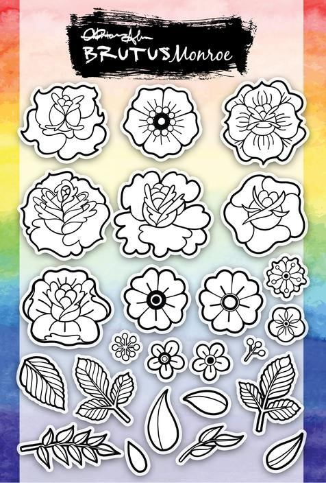 Inked Flowers 6x8 Stamp