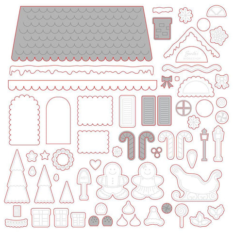 Gingerbread House Add-on Honey Cuts