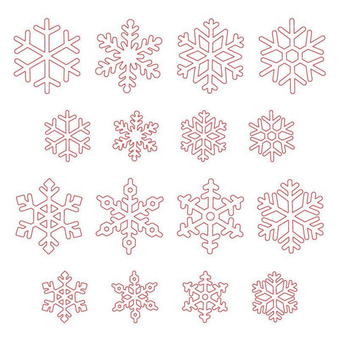 Layering Snowflakes Honey Cuts