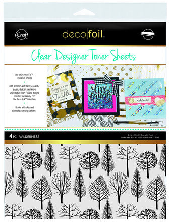 Deco Foil Clear  Designer Toner Sheets - Wilderness