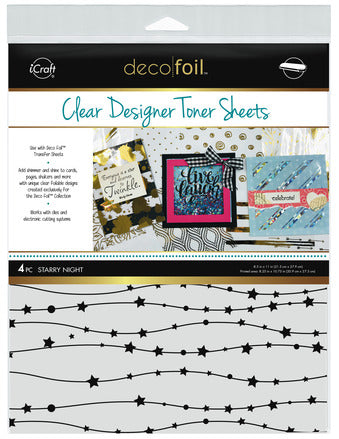 Deco Foil Clear  Designer Toner Sheets - Starry Night