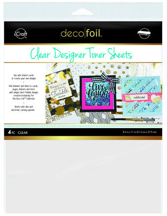 Deco Foil Clear Sheets - Printable