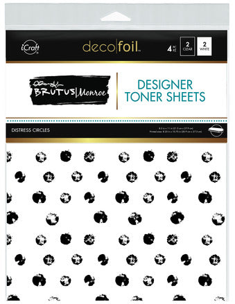 Designer Toner Sheets - Distress Circles