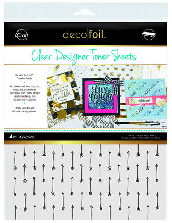 Deco Foil Clear  Designer Toner Sheets - Arrows