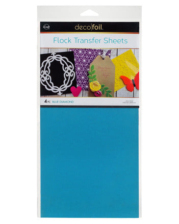 "Flock Transfer Sheets 6"" x 12"" - Blue Diamond"