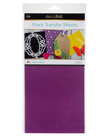 "Flock Transfer Sheets 6"" x 12"" - Purple Punch"