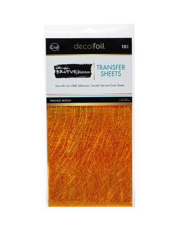 Brutus Monroe Deco Foil - Orange Sketch