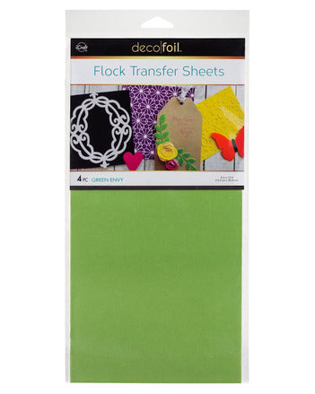 "Flock Transfer Sheets 6"" x 12"" - Green Envy"