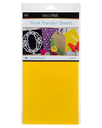 "Flock Transfer Sheets 6"" x 12"" - Sunshine Yellow"