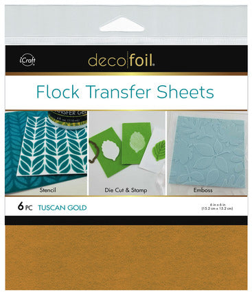 "Flock Transfer Sheets 6"" x 6"" - Tuscan Gold"